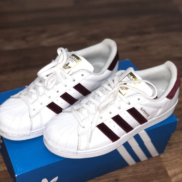 best authentic 100% high quality cheapest price Red velvet Adidas superstar limited edition NWT